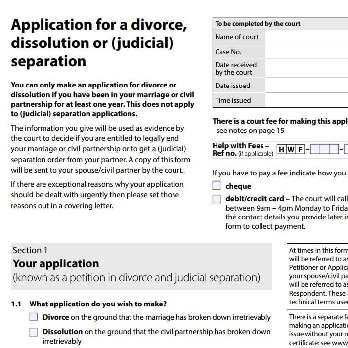 Family Law Cafe Flc View On Divorce Form Revamp